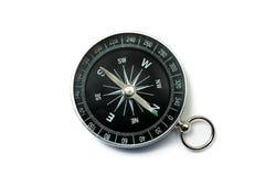 De Zwarte van het kompas met Groene Symbolen op Wijzerplaat Stock Fotografie