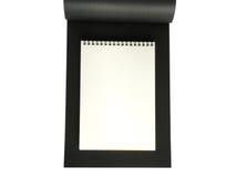 De zwarte van het notitieboekje Stock Afbeelding
