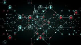 De Zwarte van mensennetwerken stock illustratie