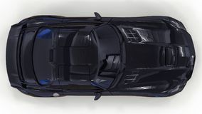 De zwarte van Mercedes-Benz SLS Driedimensionele roosterillustratie Geïsoleerde auto op witte achtergrond het 3d teruggeven stock foto