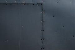 De zwarte Vastgenagelde Achtergrond van het Bladmetaal Stock Fotografie