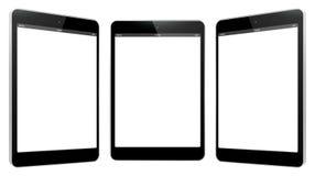 De zwarte Vectorillustratie van de Tabletcomputer Stock Afbeelding