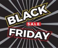De zwarte vierkante banner van de vrijdagverkoop Vector illustratie vector illustratie