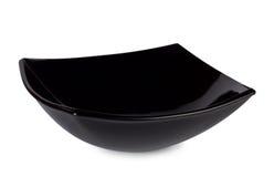 De zwarte vierkante diepe schotel Royalty-vrije Stock Afbeelding