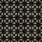 De zwarte vierkanten en de ruiten op een grijs parket als achtergrond betegelen uitstekend zwart-wit vector naadloos patroon royalty-vrije illustratie