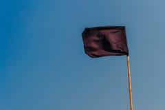 De zwarte vlag Stock Afbeeldingen