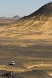 De zwarte woestijn van Egypte Stock Afbeeldingen