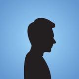 De Zwarte Zaken van zakenmanside head silhouette Royalty-vrije Stock Afbeeldingen