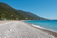 De Zwarte Zee Abchazië Stock Afbeeldingen