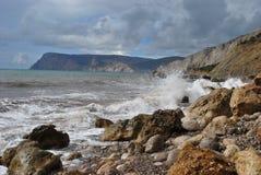 De Zwarte Zee in de Krim Stock Afbeelding