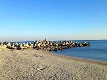 De Zwarte Zee in de winter Stock Afbeeldingen