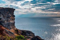 De Zwarte Zee en het dramatische overzees stock foto