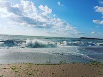 De Zwarte Zee in het midden van de zomer stock fotografie
