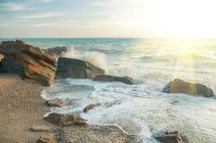 De Zwarte Zee op een zonnige dag Stock Fotografie