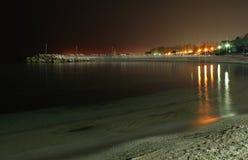 De Zwarte Zee op Nacht royalty-vrije stock foto's