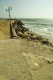 De Zwarte Zee van Land bij Toevlucht Olimp in Roemenië Royalty-vrije Stock Foto's