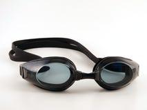 De zwarte zwemt Beschermende brillen stock afbeeldingen