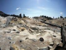 De zwavelwerken, het Vulkanische Nationale Park van Lassen Stock Afbeeldingen