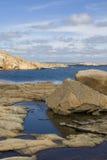 De Zweedse zomer op de kust royalty-vrije stock fotografie