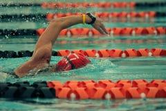De zwemmer van de concurrentie Stock Foto's