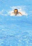 De zwemmer van de macht Stock Foto