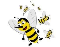 De zwermende bijen van Bizzy stock illustratie