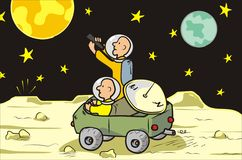 De zwerver van de maan Stock Foto