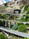 De Zwitserse, beroemde gebouwen van Miniatur in Zwitserland stock fotografie