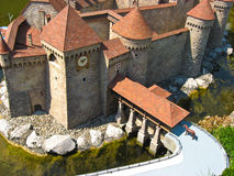 De Zwitserse, beroemde gebouwen van Miniatur in Zwitserland royalty-vrije stock afbeeldingen