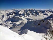 De Zwitserse Mening van Alpen Stock Afbeelding