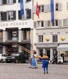 De Zwitserse Nationale Deelnemers van de Dagparade Royalty-vrije Stock Foto