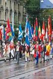 De Zwitserse Nationale parade van de Dag Royalty-vrije Stock Foto's