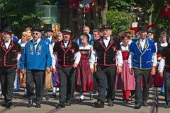 De Zwitserse Nationale parade van de Dag in Zürich Stock Fotografie