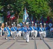 De Zwitserse Nationale parade van de Dag in Zürich Royalty-vrije Stock Afbeeldingen
