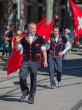 De Zwitserse Nationale parade van de Dag in Zürich Royalty-vrije Stock Foto's