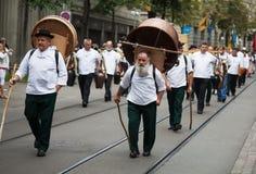 De Zwitserse Nationale parade van de Dag in Zürich Royalty-vrije Stock Afbeelding