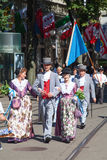 De Zwitserse Nationale parade van de Dag in Zürich Royalty-vrije Stock Fotografie