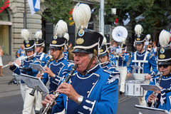 De Zwitserse Nationale parade van de Dag in Zürich Stock Afbeeldingen