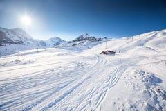 De Zwitserse toevlucht van de ski Alpiene berg, Grindelwald, Zwitserland Royalty-vrije Stock Fotografie