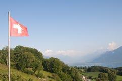 De Zwitserse Vlag Royalty-vrije Stock Fotografie