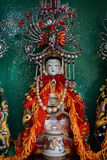 Dea cinese in altare Immagini Stock Libere da Diritti