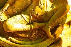 Dea dello stucco sacra con muschio verde Fotografia Stock Libera da Diritti
