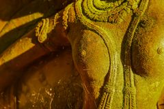Dea dello stucco sacra con muschio verde Immagine Stock