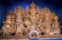 Dea fatta di bambù Durga Idol immagini stock libere da diritti