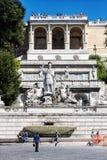Dea Roma fontanna (piazza Del Popolo, Rzym, Włochy, -) Obraz Stock