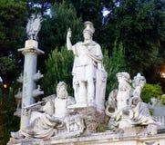 Dea Roma-fontein Stock Afbeeldingen