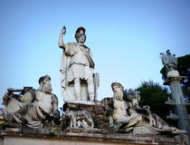 Dea Roma fountain Royalty Free Stock Photography