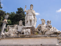 Dea Roma fountain Royalty Free Stock Photo