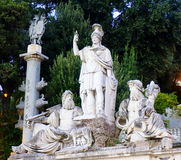 Dea Roma springbrunn Arkivbilder