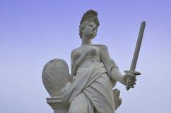 Dea romana con la spada Fotografia Stock